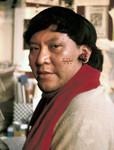 Davi Kopenawa Yanomami in London during his first trip outside Brazil, 1989