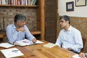 Co-founders of Legal Initiative for Forest and Environment (LIFE) Ritwick Dutta & Rahul Choudhary