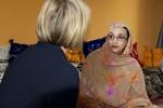 Aminatou Haidar discussing the Saharawi cause