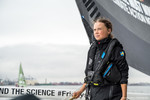 Team Malizia and Greta Thunberg arriving to New York, USA, after a sailing zero emissions Atlantic crossing from Plymouth, UK.