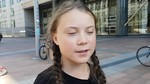 Greta Thunberg in Brussels participating at Rise for Climate