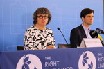 Ole von Uexkull and Amelie von Zweigbergk announcing the 2019 Right Livelihood Award Laureates