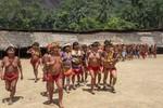 Yanomami women and children dancing