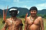 Davi and Carrera Kopenawa in Brazil, 1996