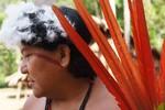 Davi Kopenawa, President of Hutukara Yanomami Association, during their assembly in 2012